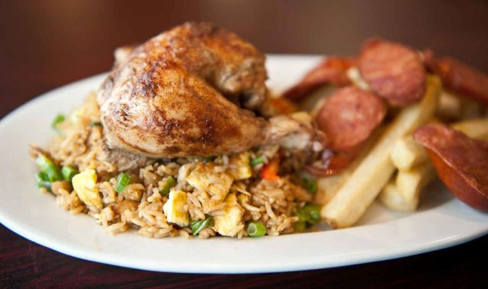 Mike's Special Chicken with Chorizo and Fried Rice