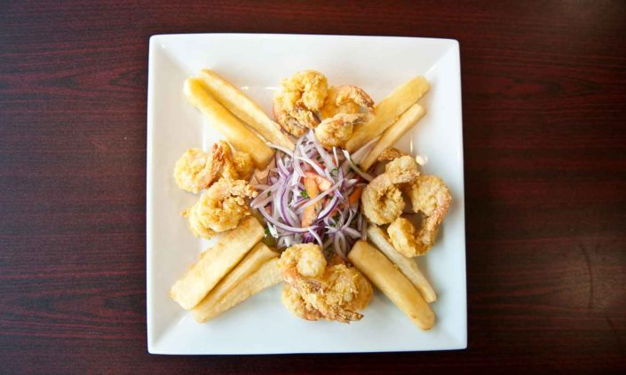 Fried Shrimp with Yuca